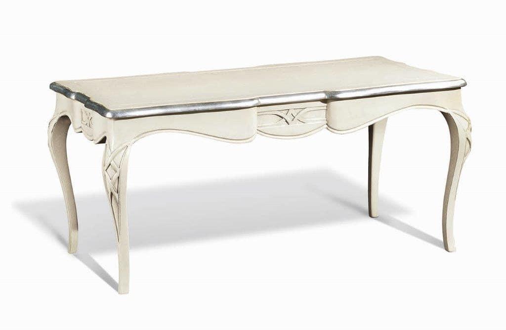 Art. 732, Tavolino rettangolare classico, con gambe sinuose