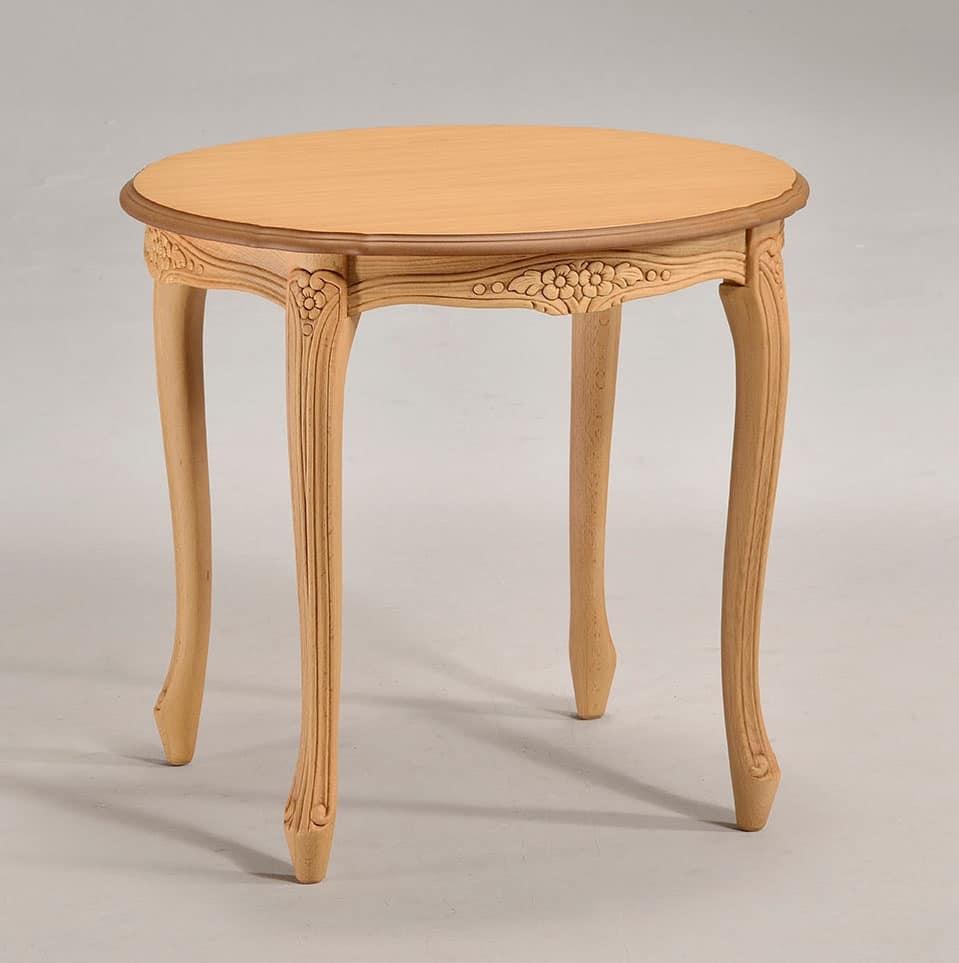 BRIANZOLO tavolino rotondo 8075TL, Tavolino rotondo di lusso, per sala lettura classica