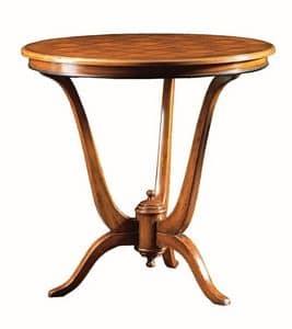 Claudio FA.0114, Tavolino Dec�, base in legno con 3 piedi
