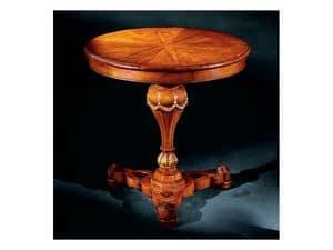 Elena tavolino 750, Tavolino con piano tondo intarsiato