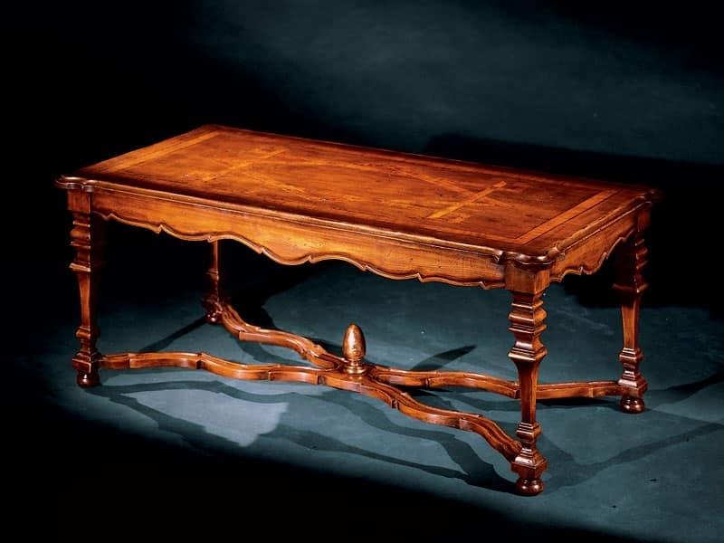 Elena tavolino 762, Tavolino con intarsi fatti a mano