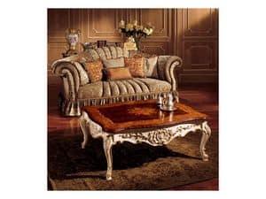 Emanuela tavolino 800, Tavolino prezioso con decorazioni fatte a mano