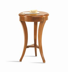 Frieda tavolino, Tavolino tondo in stile classico, per albergo
