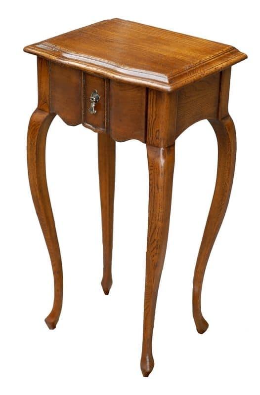 Tavolino in legno con 1 cassetto in stile classico di - Tavolini salotto amazon ...