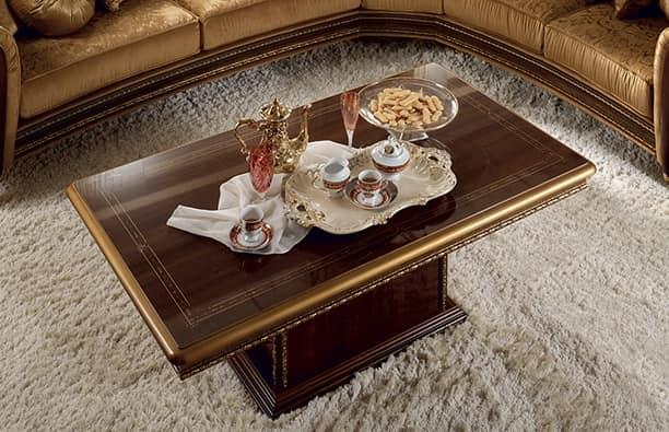 Tavolino classico di lusso, con base rettangolare | IDFdesign