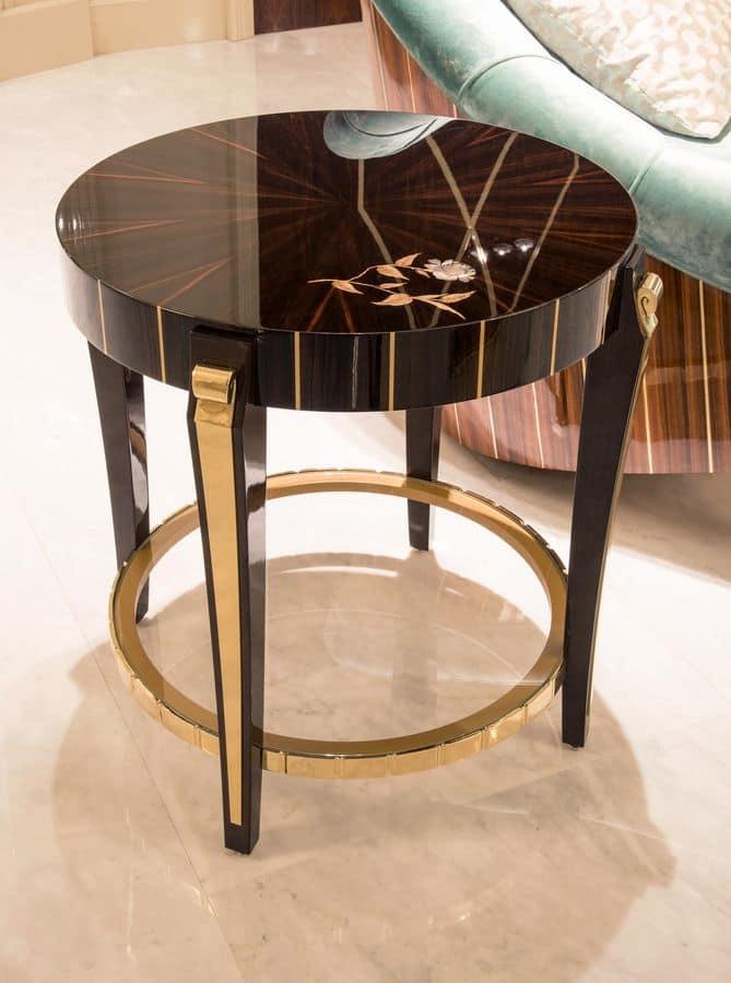 Tavolino rotondo da lampada per salotti classici idfdesign - Tavolino per lampada da tavolo ...