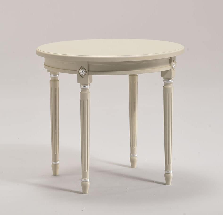 Tavolino tondo in faggio massiccio per salotto di lusso - Tavolino salotto rotondo ...