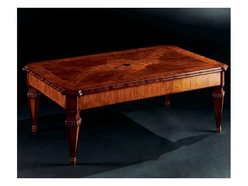 Maggiolini tavolino 798, Tavolino classico di lusso in legno intagliato