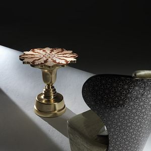 Milano MI197, Tavolino classico, con intarsi floreali