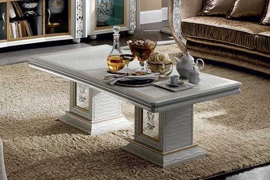 Tavolini In Legno Da Salotto : Tavolino in legno con finitura perla made in italy idfdesign