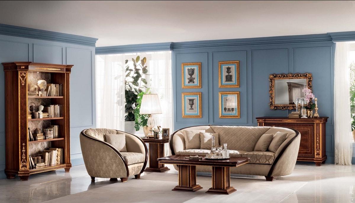 Modigliani tavolino rettangolare, Tavolino classico da salotto