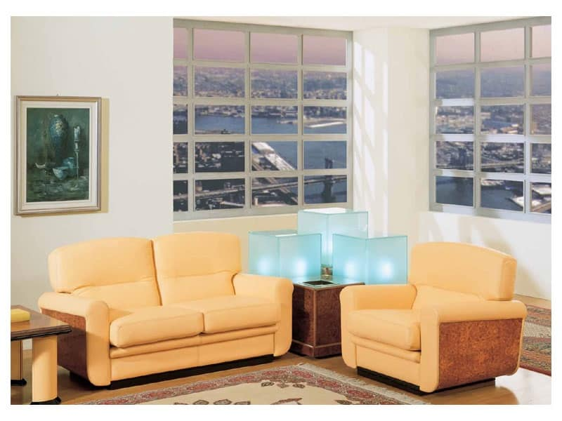 Poltrona in legno sala ritorante di lusso idfdesign - Tavolini poltrone sofa ...