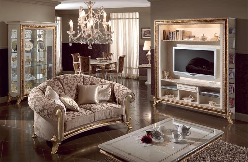 Tavolino di lusso per centro sala piano in cristallo for Tavolino con vetrina