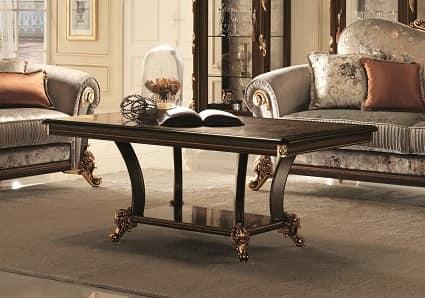 Sinfonia tavolino, Tavolino classico per centro sala, con gambe sottili