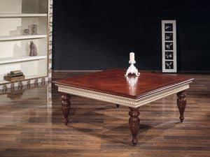TADDEUS tavolino 8418T, Tavolino lavorato a mano, in faggio, per centro sala