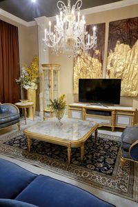 Tavolino 4973 STILE LUIGI XVI, Tavolino con piano in marmo