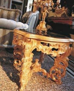 Opera tavolino, Tavolino per centro sala, intagliato, in stile classico di lusso