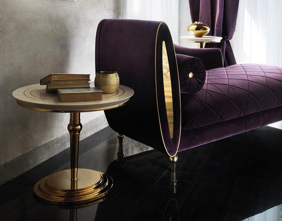 SIPARIO TAVOLINO 2, Tavolino classico con piano rotondo