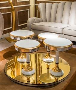 TL48, Tavolino classico di lusso con piano rotondo