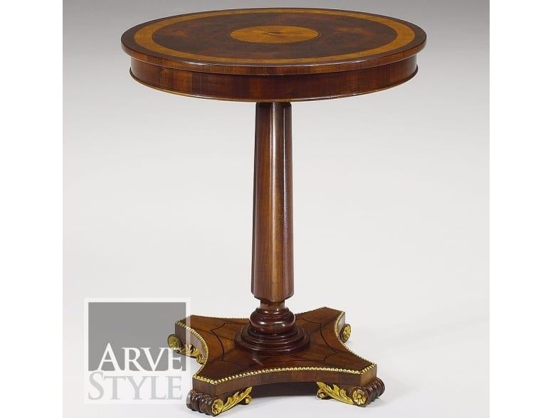 Vienna tavolino, Tavolino tondo con piano intarsiato