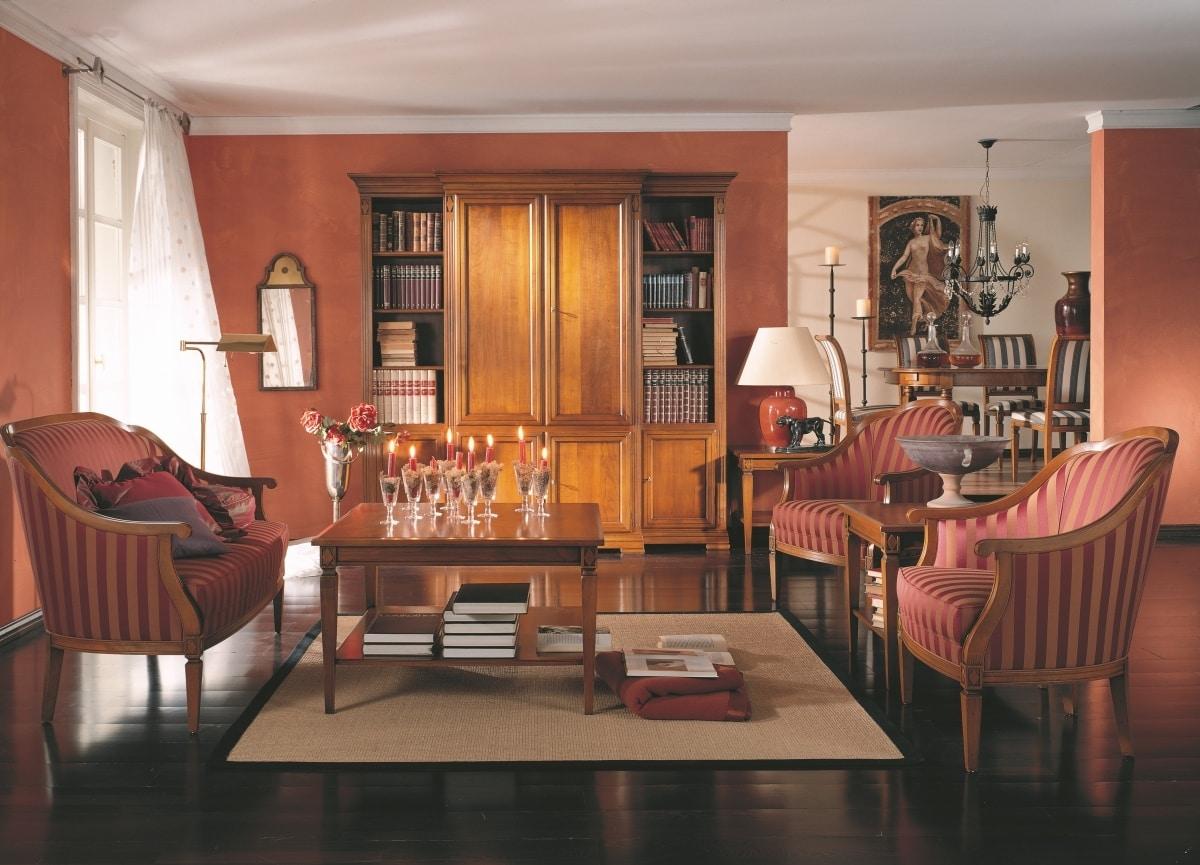 Villa Borghese tavolino da salotto 3372, Tavolino da salotto stile Directoire