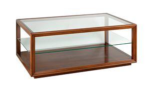 Villa Cinquanta tavolino 3572, Tavolino classico con piano in cristallo