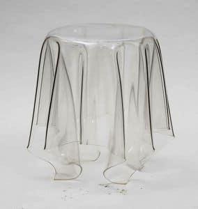 Art. 541 Fantasmino, Tavolino in policarbonato trasparente, anche per esterni