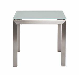 Berbeda 5411, Tavolino da esterno, in acciaio inox e vetro