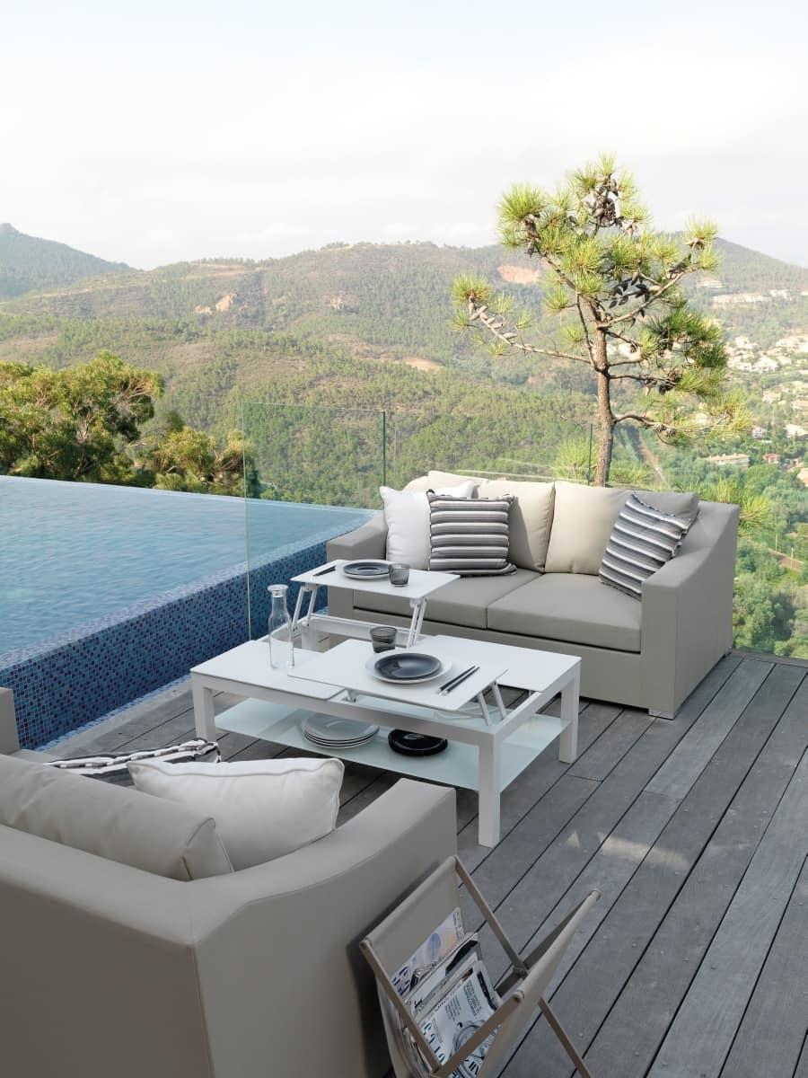 Tavolino apribile per esterno idfdesign for Divanetto da balcone
