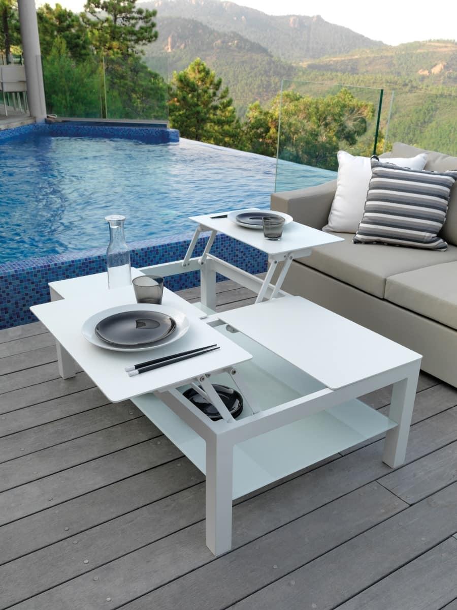 Tavolino apribile per esterno idfdesign - Tavolino esterno ...