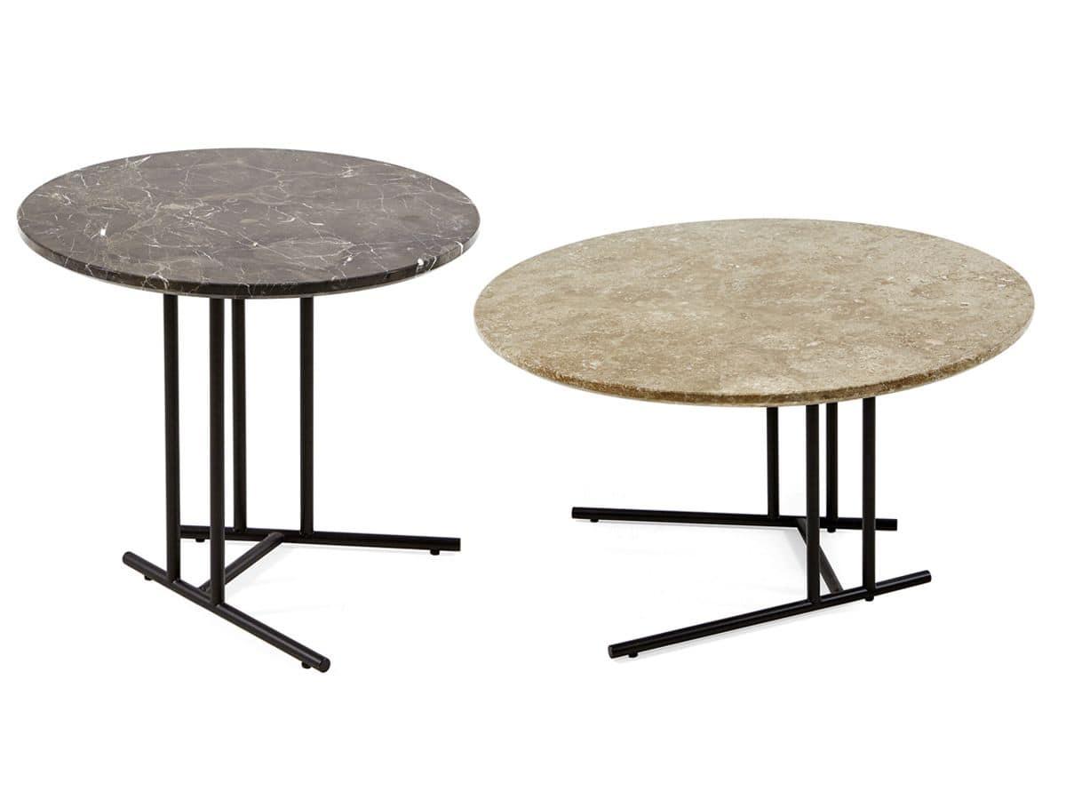 Tavolino tondo con base in acciaio verniciato per esterno idfdesign - Ikea tavolini da esterno ...