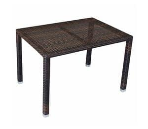 Dante, Tavolino in alluminio e polietilene, per uso esterno