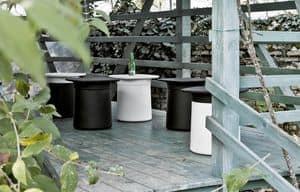 Degree Outdoor, Tavolino e contenitore multifunzione, per esterni