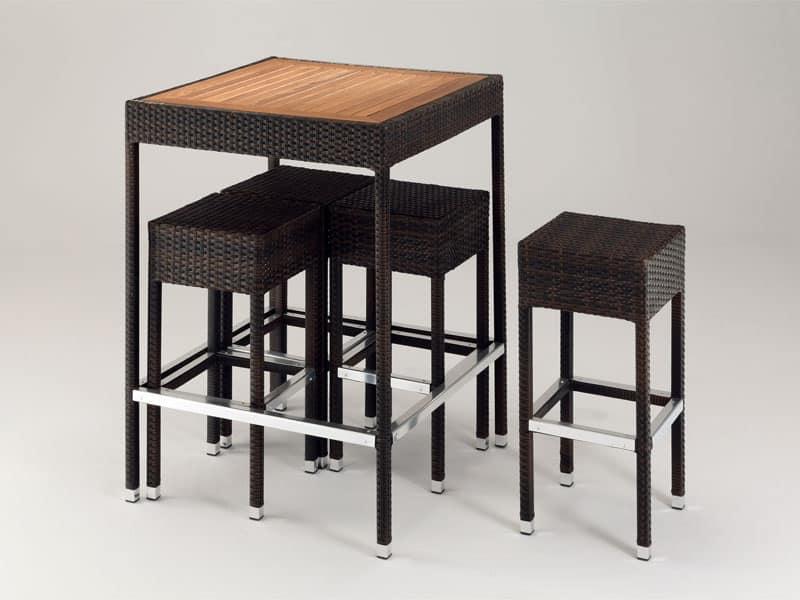 Tavolini resistenti all 39 acqua per bar sulla spiaggia - Tavolini bar usati ...