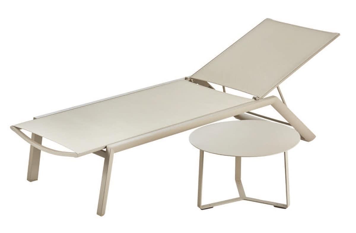 FT 740, Tavolino rotondo in alluminio, in vari colori, per esterno