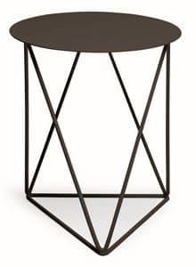Ray, Tavolino in metallo e laminato adatto anche per ambienti esterni