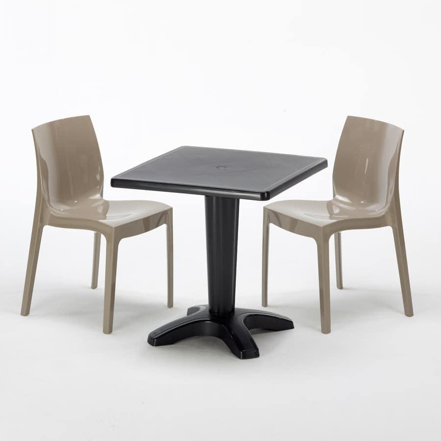 Sedie Da Esterno Bar.Tavolino Con Sedie Per Ristoranti Bar E Giardini Idfdesign
