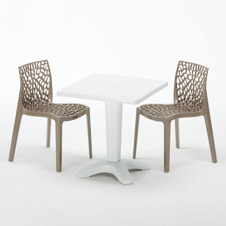 Tavolo Con Sedie Esterno.Tavolino Con Sedie Per Ristoranti Bar E Giardini Idfdesign