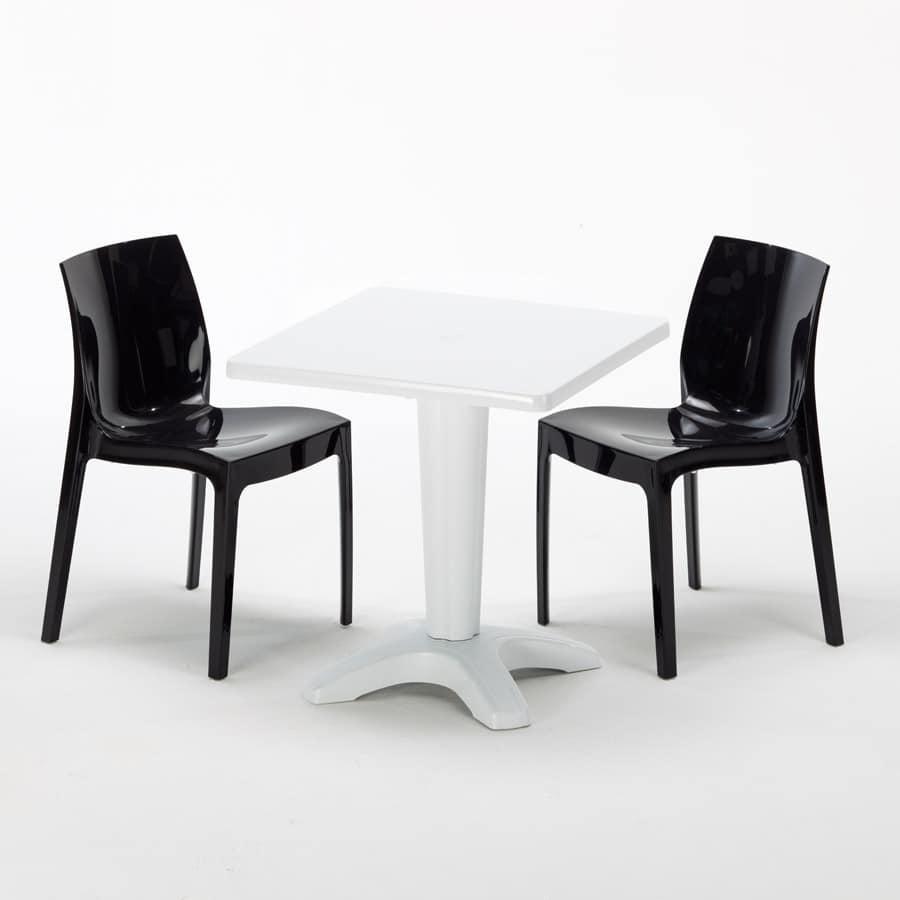 Tavoli E Sedie Per Ristoranti Da Esterno.Tavolino Con Sedie Per Ristoranti Bar E Giardini Idfdesign
