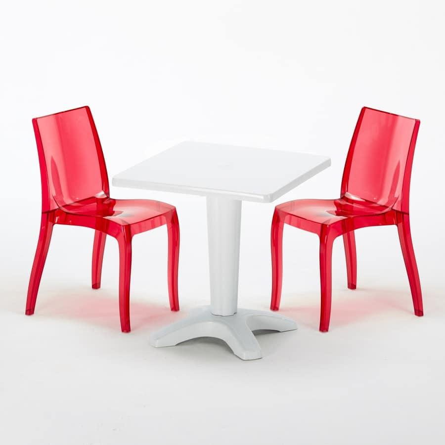 Sedie E Tavoli Per Bar Da Esterno.Tavolino Da Bar Dotato Di Sedie Stabile E Robusto Idfdesign