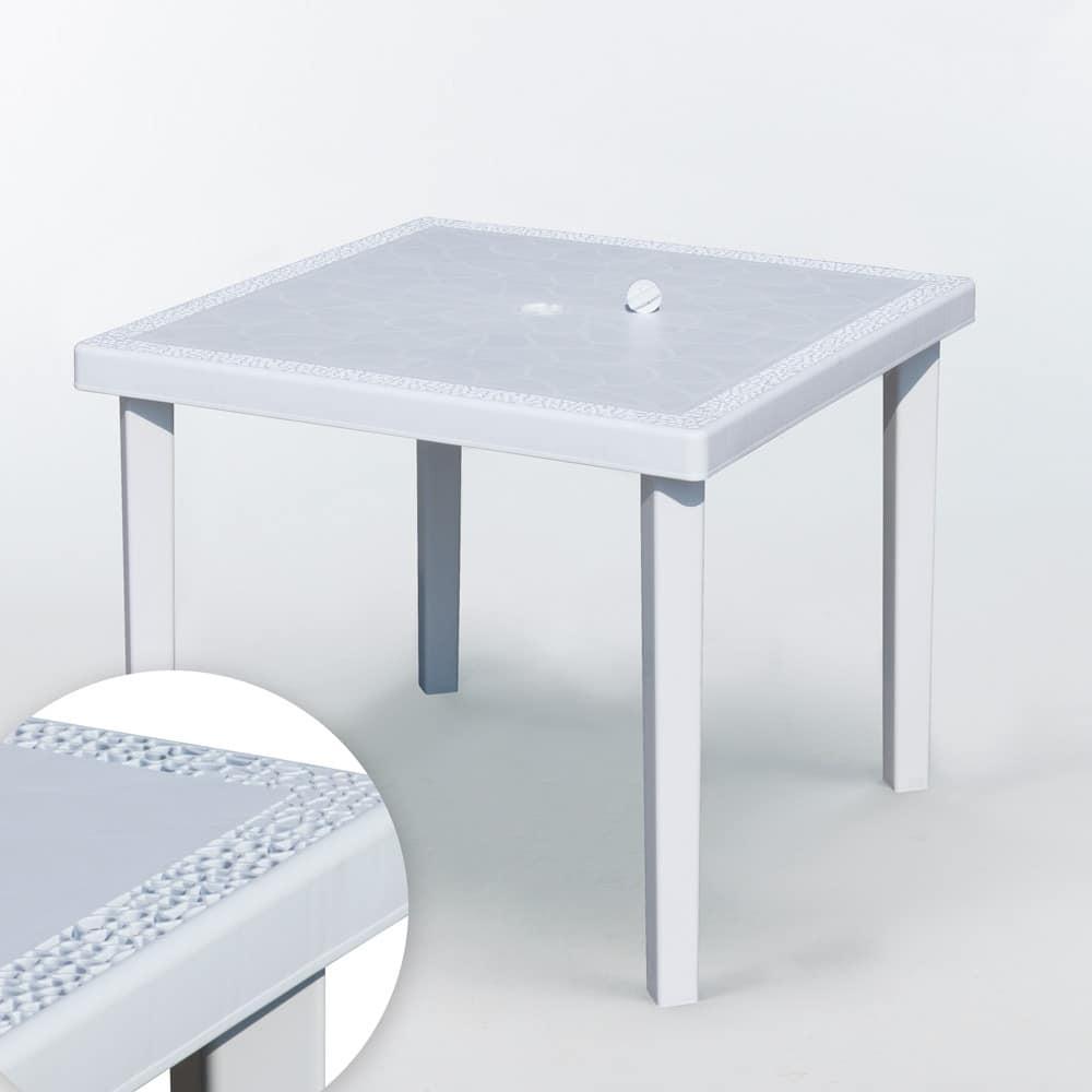 Tavoli In Finto Rattan.Tavolo Quadrato In Polyrattan Leggero E Robusto Idfdesign