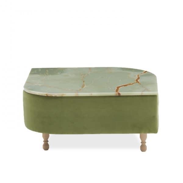 Délice 01053L - 01053M, Tavolino con piano in marmo o laminato