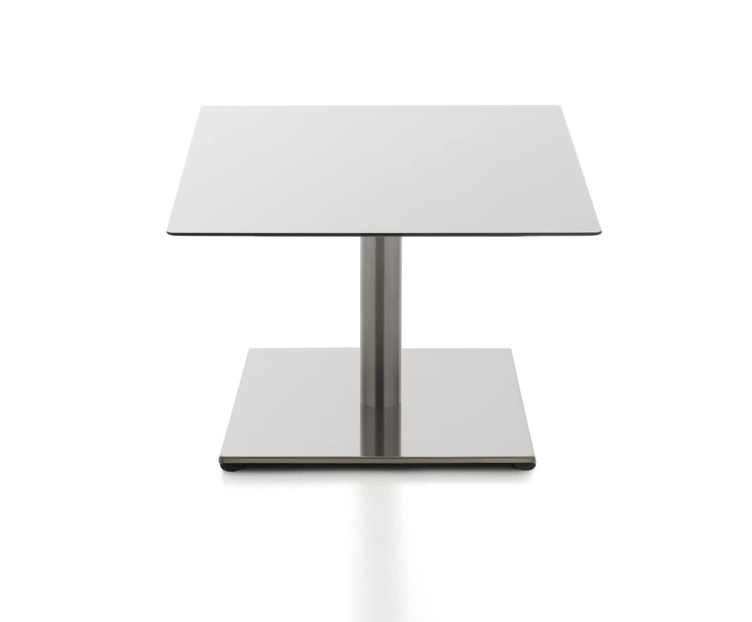 Kaleox waiting tables, Tavolini per sala attesa, con base in acciaio