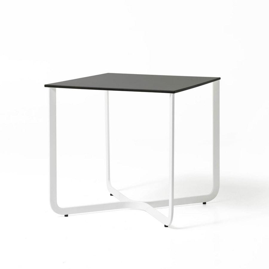 Tavolino in tubo metallico per albergo e studio medico for Tavolini da ufficio