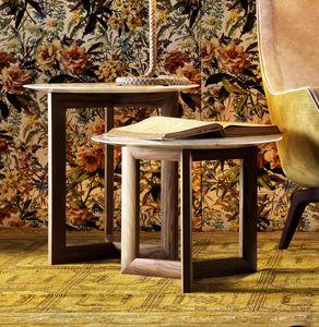 712108 York, Tavolino tondo con piano in marmo