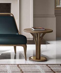 Alexander Art. A16/M - A16/A, Tavolino con piano tondo in frassino