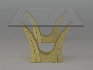 Apollo, Tavolino con doppia base in pietra