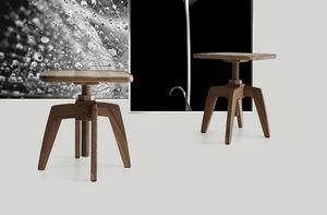 Archita tavolino, Tavolino in legno, con piano regolabile in altezza