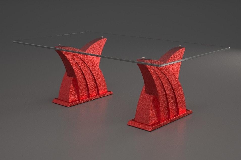 Ares, Tavolino con doppia base in pietra