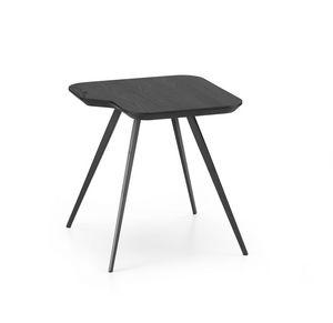 ART. 00102-MET AKY, Tavolino con piano squadrato